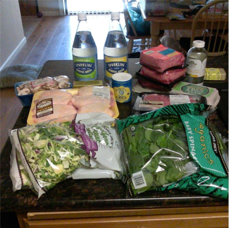 My first shopping trip with the ketogenic diet in mind.